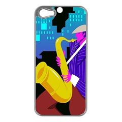 Man Playing Saxophone Iphone 5 Case (silver)