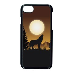 Howling Wolf Iphone 7 Seamless Case (black) by trulycreative