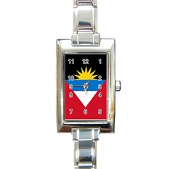 Flag Of Antigua And Barbuda Rectangle Italian Charm Watch by trulycreative