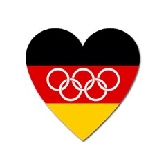 Olympic Flag Of Germany, 1960 1968 Heart Magnet by abbeyz71