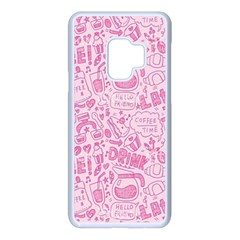 Coffee Pink Samsung Galaxy S9 Seamless Case(white)