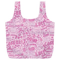 Coffee Pink Full Print Recycle Bag (xxxl)