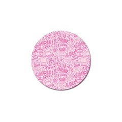 Coffee Pink Golf Ball Marker (10 Pack) by Amoreluxe