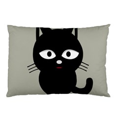 Cat Pet Cute Black Animal Pillow Case (two Sides)