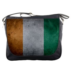 Grunge Ivory Coast Flag Messenger Bag by trulycreative