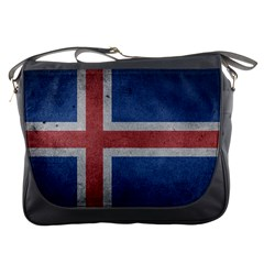 Grunge Iceland Flag Messenger Bag by trulycreative
