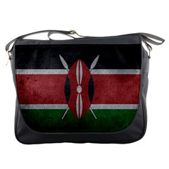 Grunge Kenya Flag Messenger Bag by trulycreative
