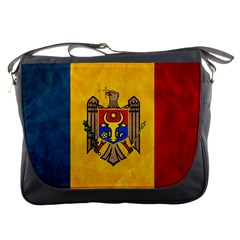 Grunge Moldova Flag Messenger Bag by trulycreative