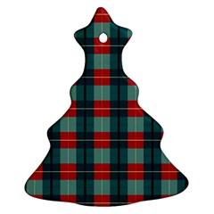 Pattern Texture Plaid Christmas Tree Ornament (two Sides)