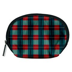 Pattern Texture Plaid Accessory Pouch (medium) by Mariart