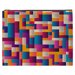 Abstract Geometry Blocks Cosmetic Bag (xxxl)