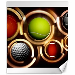 Sport Ball Tennis Golf Football Canvas 20  X 24  by HermanTelo