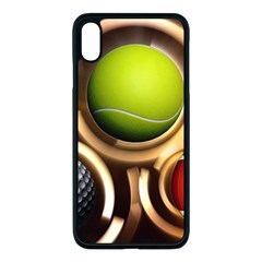 Sport Ball Tennis Golf Football Iphone Xs Max Seamless Case (black) by HermanTelo