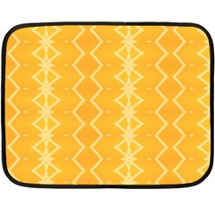 Pattern Yellow Double Sided Fleece Blanket (mini)  by HermanTelo