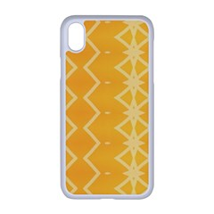 Pattern Yellow Iphone Xr Seamless Case (white)