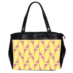 Yellow Pink Oversize Office Handbag (2 Sides) by HermanTelo