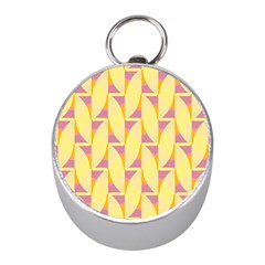 Yellow Pink Mini Silver Compasses