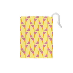 Yellow Pink Drawstring Pouch (small)