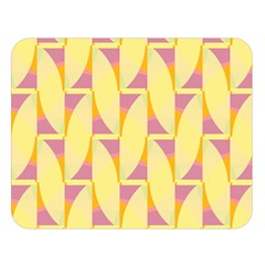 Yellow Pink Double Sided Flano Blanket (large)
