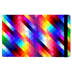 Abstract Blue Background Colorful Pattern Apple Ipad Mini 4 Flip Case