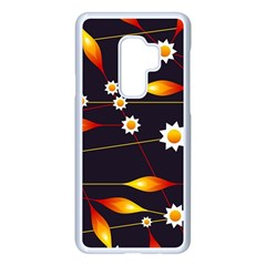 Flower Buds Floral Background Samsung Galaxy S9 Plus Seamless Case(white) by HermanTelo