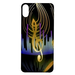 Background Level Clef Note Music Iphone X/xs Soft Bumper Uv Case