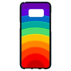 Rainbow Background Colorful Samsung Galaxy S8 Black Seamless Case