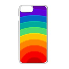 Rainbow Background Colorful Iphone 8 Plus Seamless Case (white)