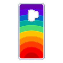 Rainbow Background Colorful Samsung Galaxy S9 Seamless Case(white) by HermanTelo