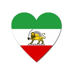 State Flag Of The Imperial State Of Iran, 1907-1979 Heart Magnet by abbeyz71