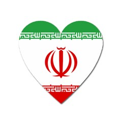 Vertical Flag Of Iran Heart Magnet by abbeyz71