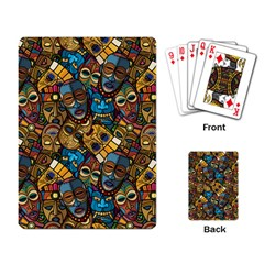 Voodoo Tribal Masks Playing Cards Single Design (rectangle) by trulycreative