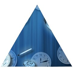 Time Clock Watch Hours Wooden Puzzle Triangle