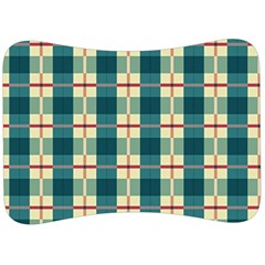 Pattern Texture Plaid Grey Velour Seat Head Rest Cushion