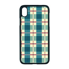 Pattern Texture Plaid Grey Iphone Xr Seamless Case (black)