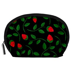 Roses Flowers Spring Flower Nature Accessory Pouch (large) by HermanTelo