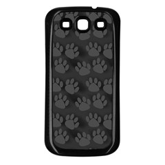 Pattern Texture Feet Dog Grey Samsung Galaxy S3 Back Case (black)