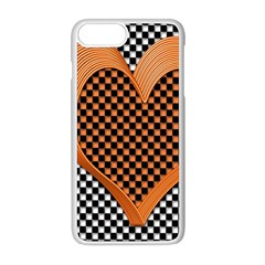 Heart Chess Board Checkerboard Iphone 8 Plus Seamless Case (white)