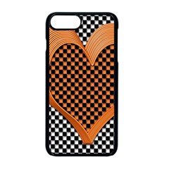 Heart Chess Board Checkerboard Iphone 8 Plus Seamless Case (black)