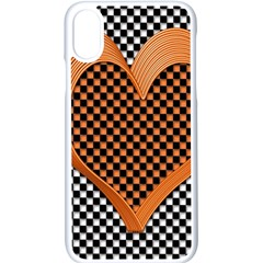 Heart Chess Board Checkerboard Iphone X Seamless Case (white)
