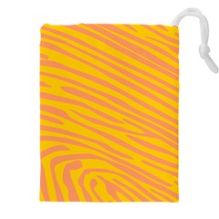 Pattern Texture Yellow Drawstring Pouch (4xl)