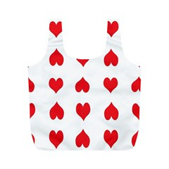 Heart Red Love Valentines Day Full Print Recycle Bag (m)