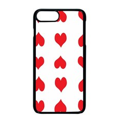 Heart Red Love Valentines Day Iphone 8 Plus Seamless Case (black)