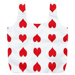 Heart Red Love Valentines Day Full Print Recycle Bag (xxl)