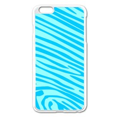 Pattern Texture Blue Iphone 6 Plus/6s Plus Enamel White Case