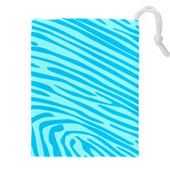 Pattern Texture Blue Drawstring Pouch (4xl) by HermanTelo