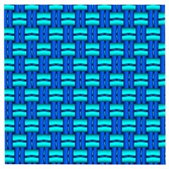 Pattern Graphic Background Image Blue Wooden Puzzle Square by HermanTelo