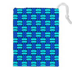 Pattern Graphic Background Image Blue Drawstring Pouch (4xl) by HermanTelo