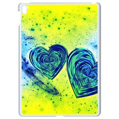 Heart Emotions Love Blue Apple Ipad Pro 9 7   White Seamless Case