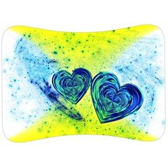 Heart Emotions Love Blue Velour Seat Head Rest Cushion